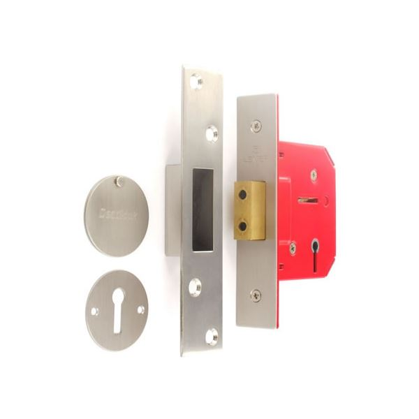 Sterling 3-Lever Deadlock 65mm - Nickel