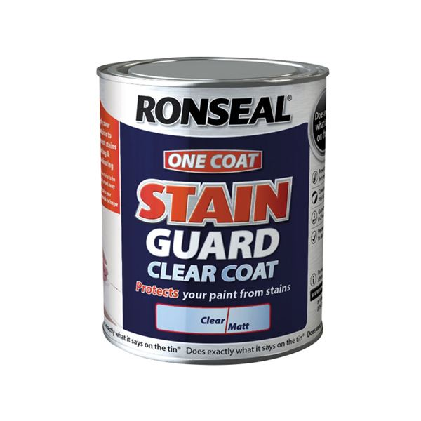Ronseal Stain Guard 750ml - One Coat - Clear