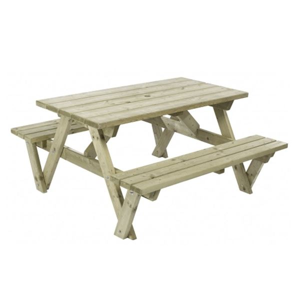 Garden Furniture - Wooden Picnic Bench 1.4Mt - 'A' Frame Table