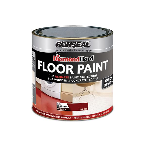 Ronseal Diamond Hard - Floor Paint 2.5Lt - Pebblestone