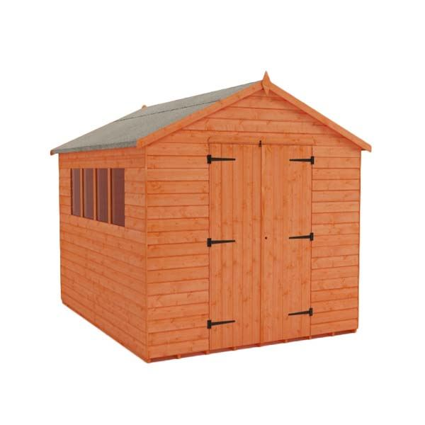 Tiger Heavyweight Workshop Shed - 8Ft Length x 7Ft Width