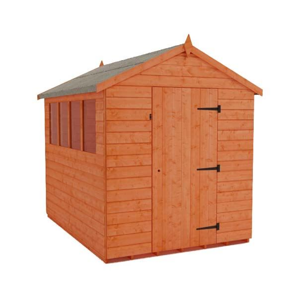 Tiger Shiplap Apex Shed - 8Ft Length x 6Ft Width