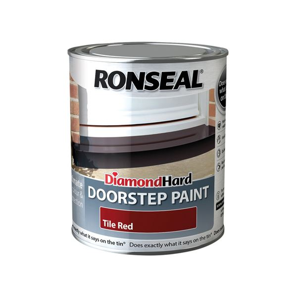Ronseal Diamond Hard - Doorstep Paint 750ml - Tile Red