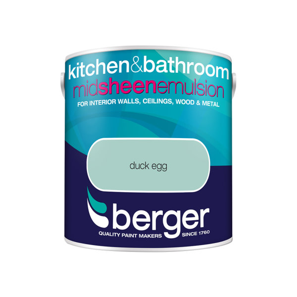 Berger Bath & Kitchen Paint 2.5Lt - Duck Egg