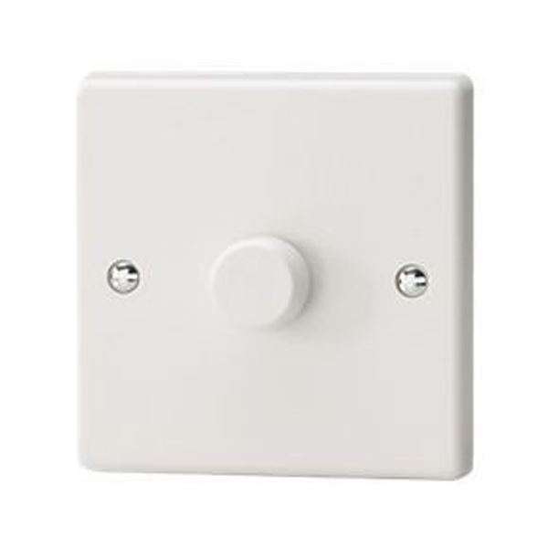 Jegs Dimmer Switch For LED - 1 Gang - 2 Way - 400 Watt (100W for LED) Trailing Edge
