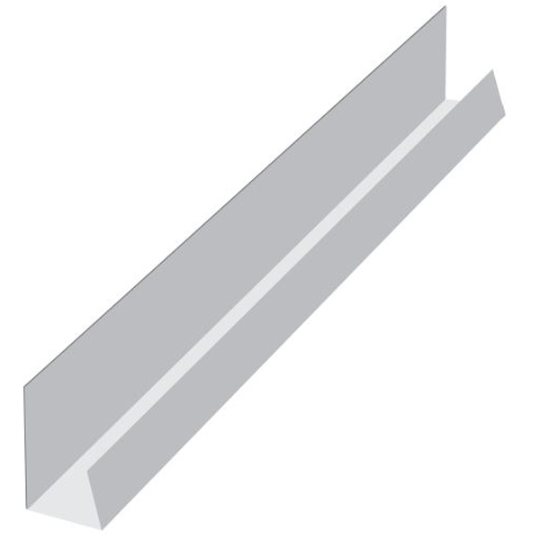 PVC Universal Channel Trim x 5Mt - Large J Section