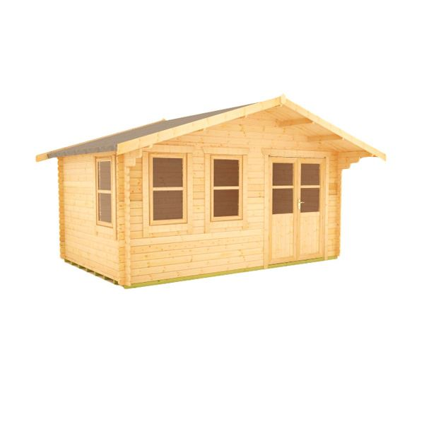 The Zeta - 44mm Log Cabin - 12Ft Length x 16Ft Width