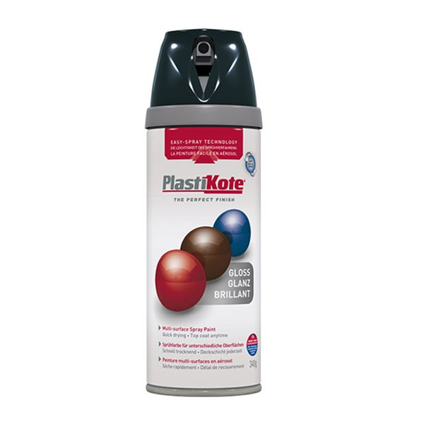 Plasti-Kote Spray Paint 400ml - Satin - Black