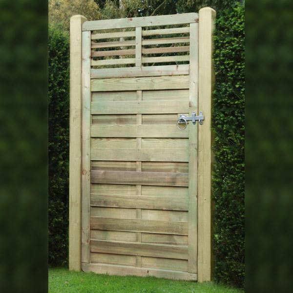 Elite Slatted Top Gate - 0.9Mt Wide x 1.8Mt High