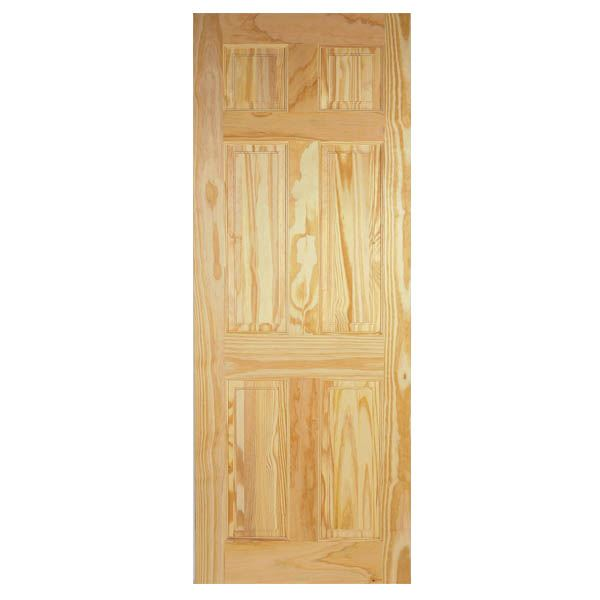 Pine Clear 6-Panel Door - All Sizes