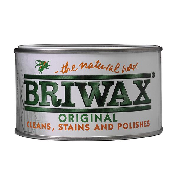 Briwax Natural Wax 400g - Medium Brown