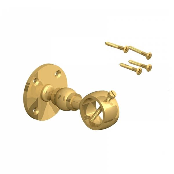 Decking Rope - Handrail Bracket 24mm - Brass - (Pack of 2)