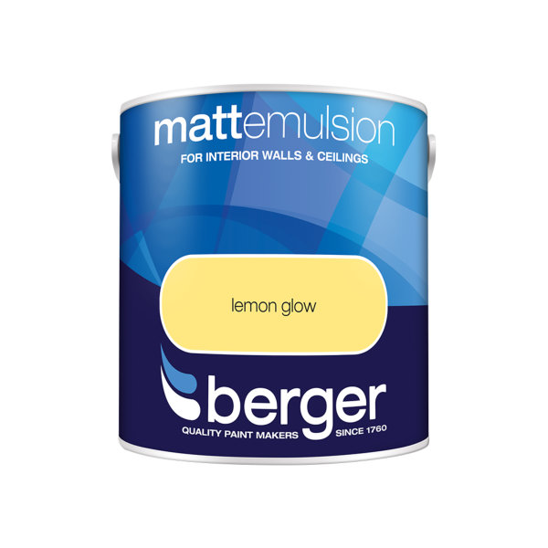 Berger Matt Emulsion 2.5Lt - Lemon Glow