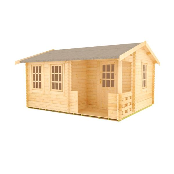 The Amur - 44mm Log Cabin - 14Ft Length x 14Ft Width