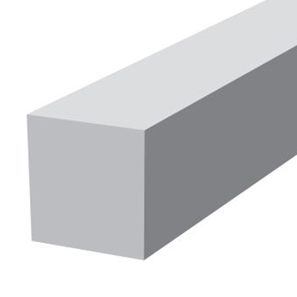 PVC Reveal External Corner 300mm - Black Grained