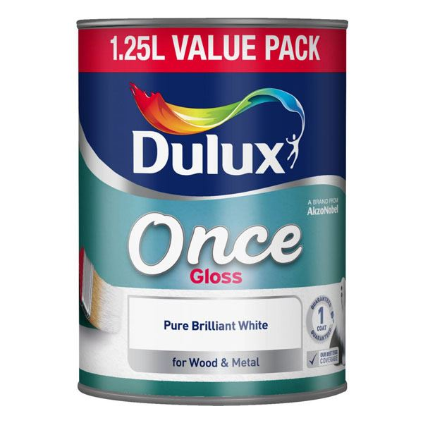 Dulux Once - One Coat Gloss 1.25Lt - Pure Brilliant White