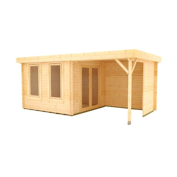 The Lakra - 44mm Log Cabin - 16Ft Length x 12Ft Width