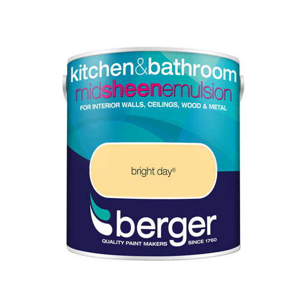 Berger Bath & Kitchen Paint 2.5Lt - Bright Day