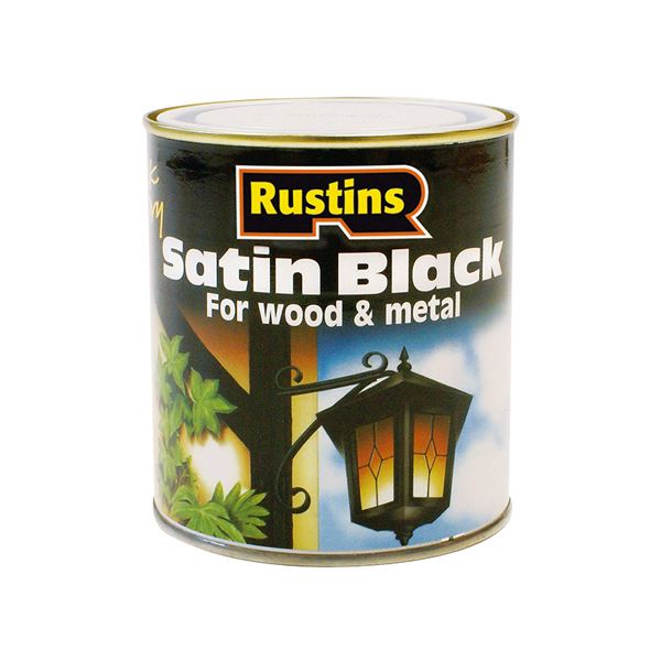Rustins Satin Black Paint 250ml