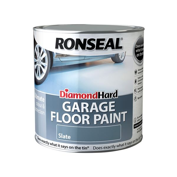 Ronseal Diamond Hard - Garage Floor Paint 2.5Lt - Tile Red