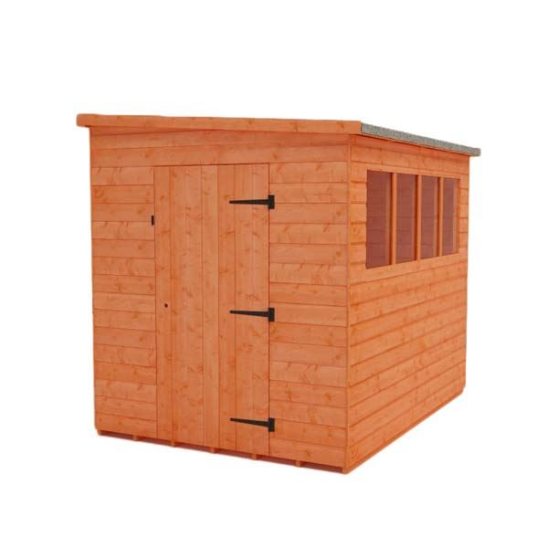 Tiger Shiplap Pent Shed - Lean To - 8Ft Length x 6Ft Width