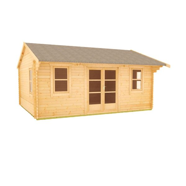 The Delta - 44mm Log Cabin - 16Ft Length x 12Ft Width