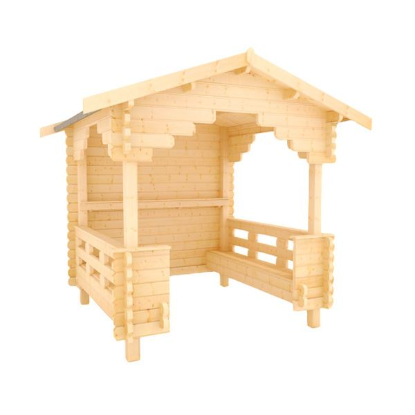 The Garden Shelter - 44mm Log Cabin - 8Ft Length x 8Ft Width