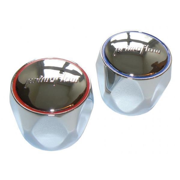 Tap Heads - Chrome (1 Pair) - Hot / Cold - (9P124C)