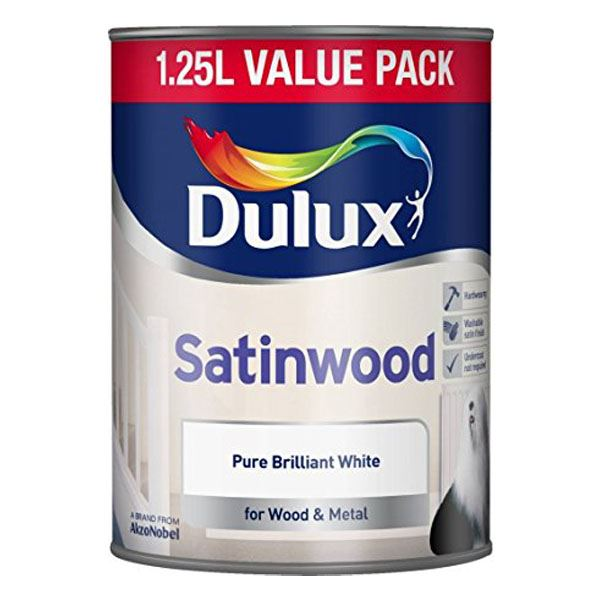 Dulux Satinwood 1.25Lt - Pure Brilliant White