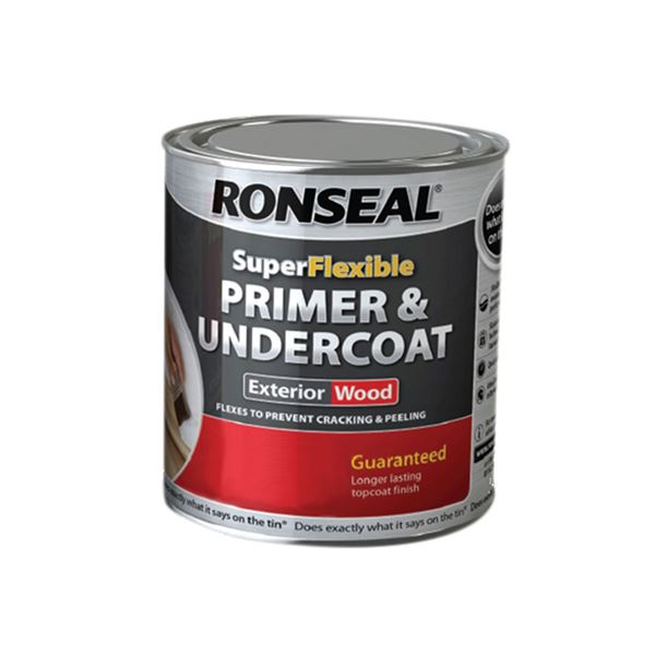 Ronseal Primer & Undercoat - Super Flexible - Grey 750ml