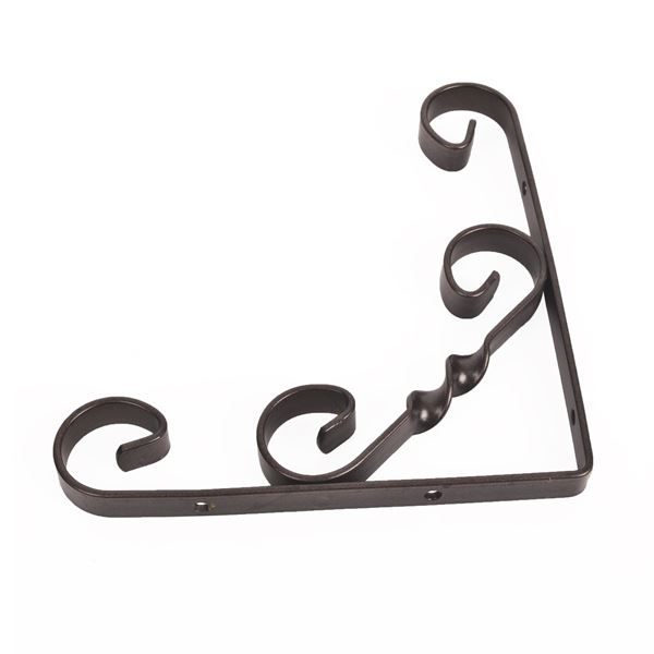 Shelf Bracket 250mm - Decorative Scroll - Black