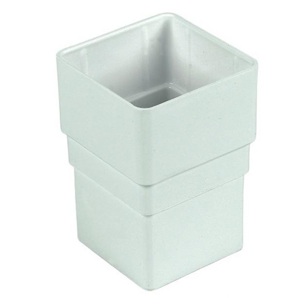 Rainwater Square Pipe Connector - White