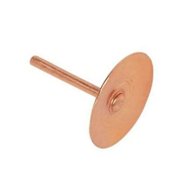 Copper Disc Rivets (100)