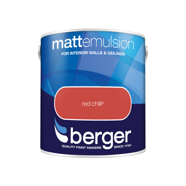 Berger Matt Emulsion 2.5Lt - Red Chilli