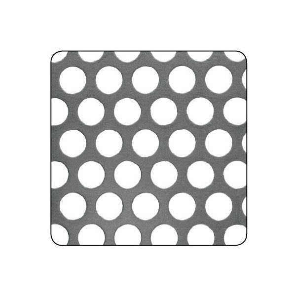 CQFD Steel Panel - Perforated Square - 500mm x 250mm x 5mm x 5mm - (80)