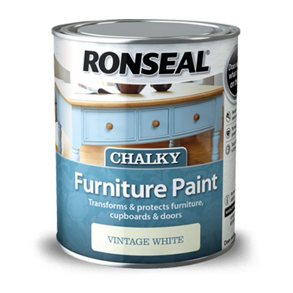 Ronseal Chalky Furniture Paint 750ml - Dusky Mint