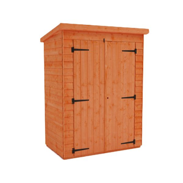 Tiger Overlap Double Toolshed - 5Ft Length x 4Ft Width