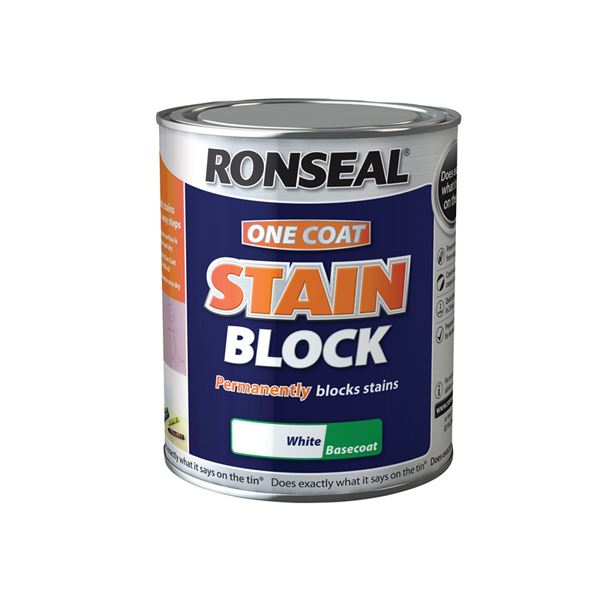 Ronseal Stain Block 750ml - One Coat - White